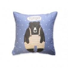 Подушка Ведмідь (фіолетова)