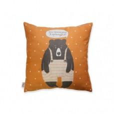 Подушка Ведмідь (оранжева)
