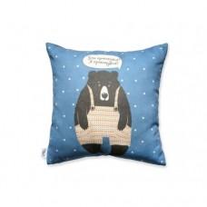 Подушка Ведмідь (синя)