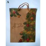 Пакет крафт Різдвяний 42см