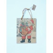 Пакет новорічний Санта 24см