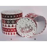 Набір круглих коробок Різдво
