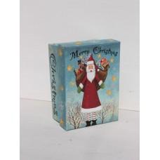 Коробка подарункова Санта 11см