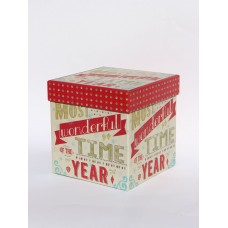 Коробка подарункова New Year 16см