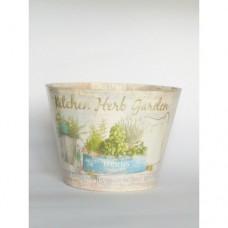 Дерев'яне кашпо Herbs 14см